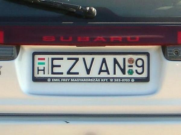 6 34 A 18 legegyedibb rendszám, amivel a magyar utakon találkozhatsz