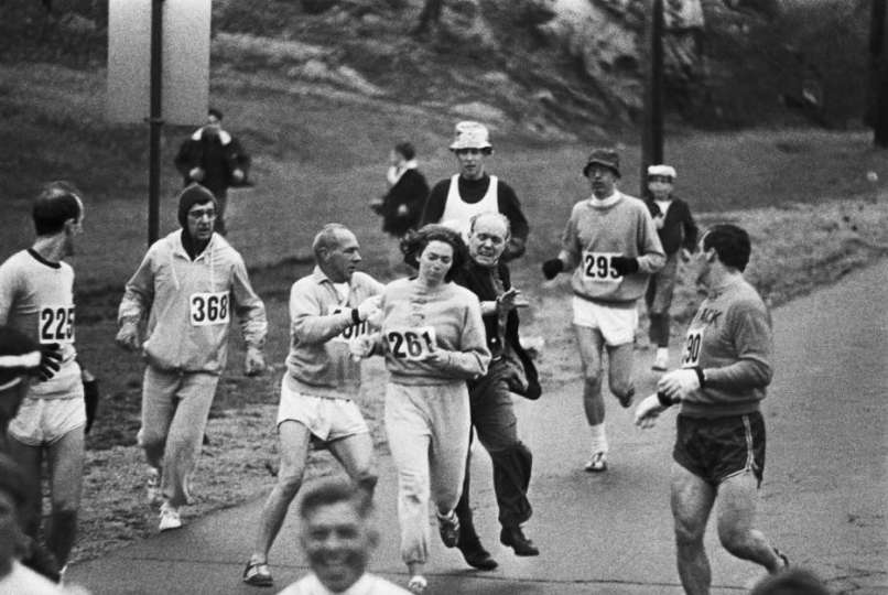1967: Boston Marathon Kathrine Switzer became the first woman to finish the race,s.